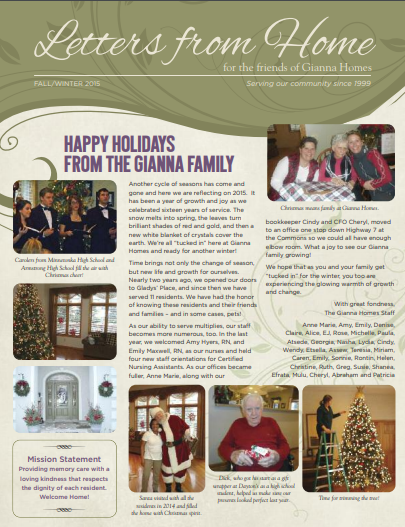 2015-fall-winter - Gianna Homes | In-Home and Residential Care - Twin Cities
